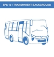Bus Picture of old transportation hand vector image