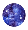 Watercolor horoscope sign aries vector image