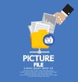 Picture File Storage vector image