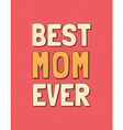 colorful mothers day retro greeting card design vector image vector image