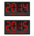electronic scoreboard old and the new year vector image