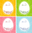 egg floral banners vector image