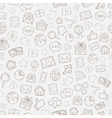 Seamless Mobile apps pattern vector image