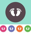 Baby footprint icon vector image
