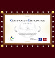 certificate of participation template in sport vector image