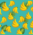 delicious and exotic bananas fruits background vector image