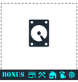 Hard drive icon flat vector image