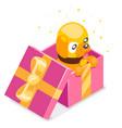 isometric 3d cute cartoon baby yellow dog cub gift vector image