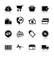 Market Icons Set with reflection vector image