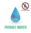 potable and non-potable water blue symbols eps10 vector image