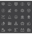 Power and energy outline icons vector image
