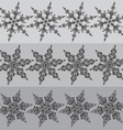 Seamless line patterns with hand drawn ornamental vector image