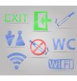Transparent signs for public places vector image