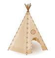wigwam american indians vector image