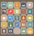 workspace flat icons on brown background vector image