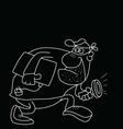 Cartoon Burglar vector image vector image