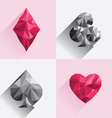 Playing Card Low Poly Style vector image