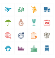 Logistics Icons - Colored Series vector image