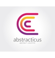 Abstract C character logo template for vector image