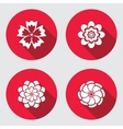 Flower icons set Chamomile daisy chrysanthemum vector image
