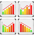 Bar graphs vector image vector image