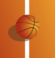 a colored background with a basketball ball on the vector image