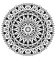 ancient gothic ornament mandala on white vector image