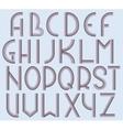 Art Deco Font vector image