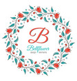 bellflower floral element wedding design vector image
