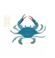Blue crab cartoon vector image