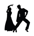 couple dance silhouette vector image