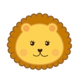 cute lion head isolated icon design vector image