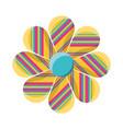 decorative flower vector image