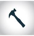 Hammer black icon vector image