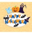 Happy Halloween round board vector image