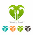 healthy food logo template vector image