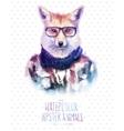 red fox portrait in vector image
