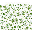 seamless pattern vine leaf different branches vector image