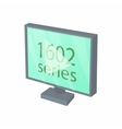 View series on TV icon cartoon style vector image