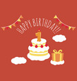 1 year old birthday card vector image