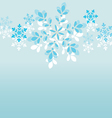 snowflake-background vector image