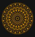 golden ornament mandala for business printing vector image