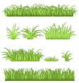 spring green grass borders set 3d vector image