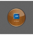 Dictionary wood application icons vector image vector image