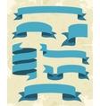 Set Of Vintage Ribbons Background vector image
