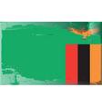 zambia national flag vector image vector image