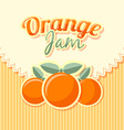 Orange jam label vector image vector image