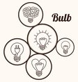 Eco bulb design vector image