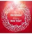 Christmas and New Year with wreath vector image