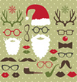 Christmas Photo Booth set vector image vector image